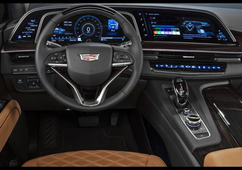 2021 Yeni Kasa Cadillac Escalade İç Mekanı