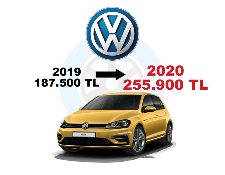 Volkswagen 2019-2020 Fiyatları