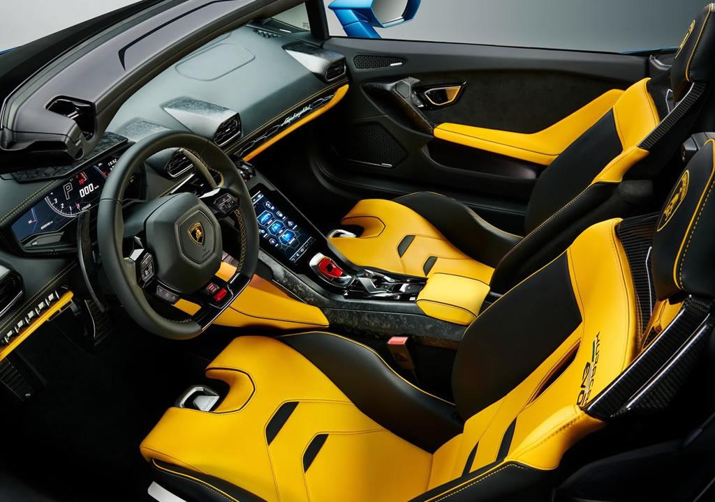 2021 Lamborghini Huracan Evo RWD Spyder Kokpiti