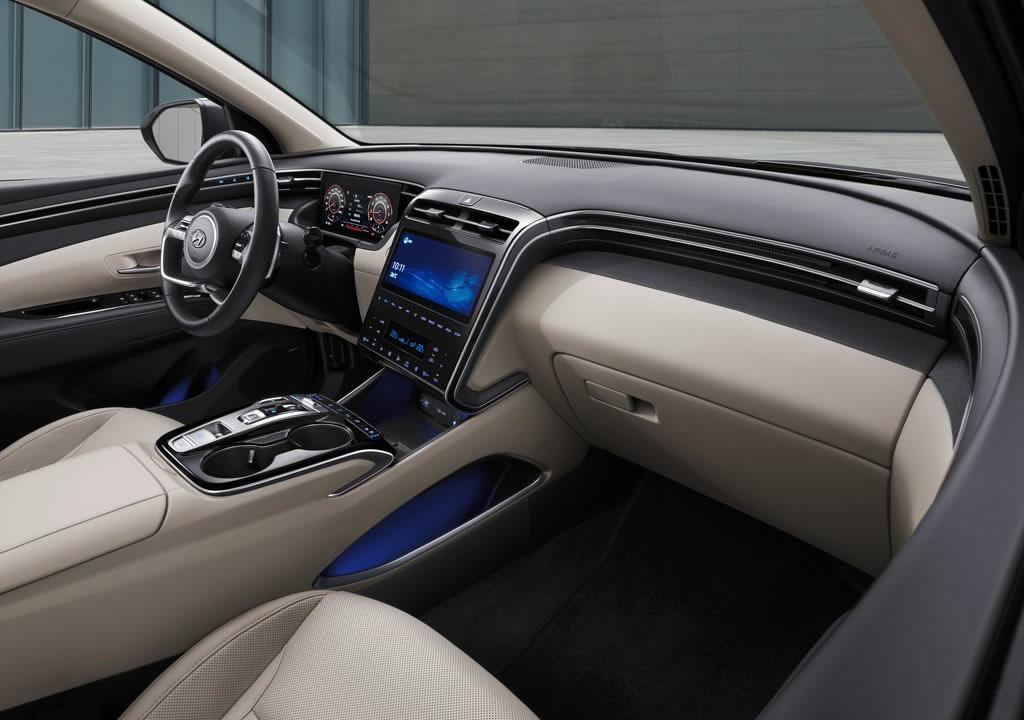 2021 Yeni Kasa Hyundai Tucson (MK4) İçi