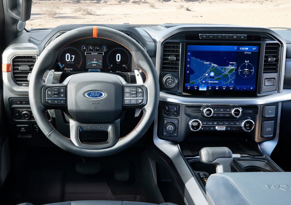 2021 Yeni Ford F-150 Raptor Kokpiti