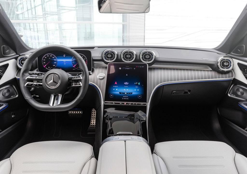 2022 Yeni Kasa Mercedes-Benz C-Serisi Estate Kokpiti